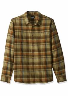 O'Neill Men's Flannel Long Sleeve Woven Casual Button Down Shirt  S