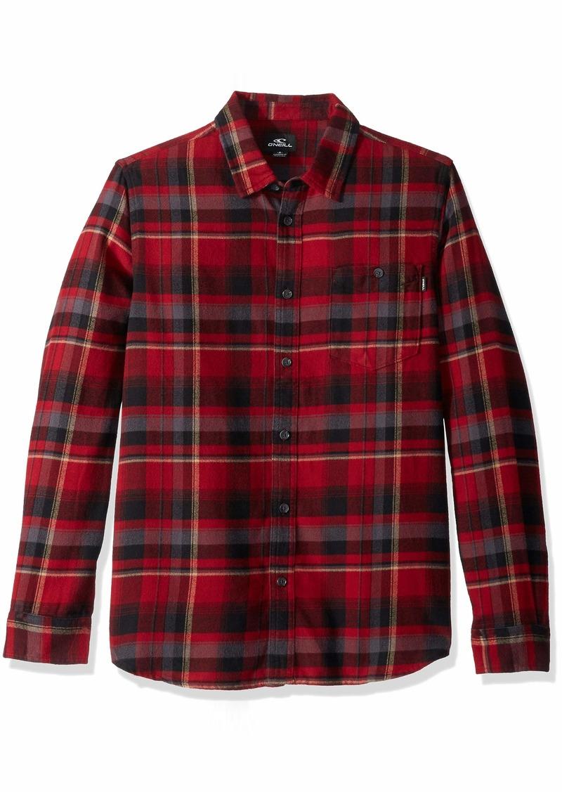 O'NEILL Men's Flannel Long Sleeve Woven Casual Button Down Shirt  XXL