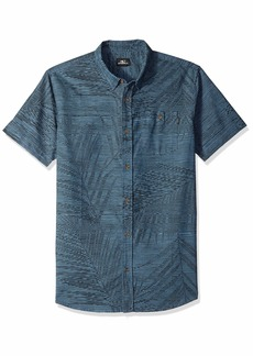 O'NEILL Men's Fronzarelli Short Sleeve Woven Shirt Dark Blue XL