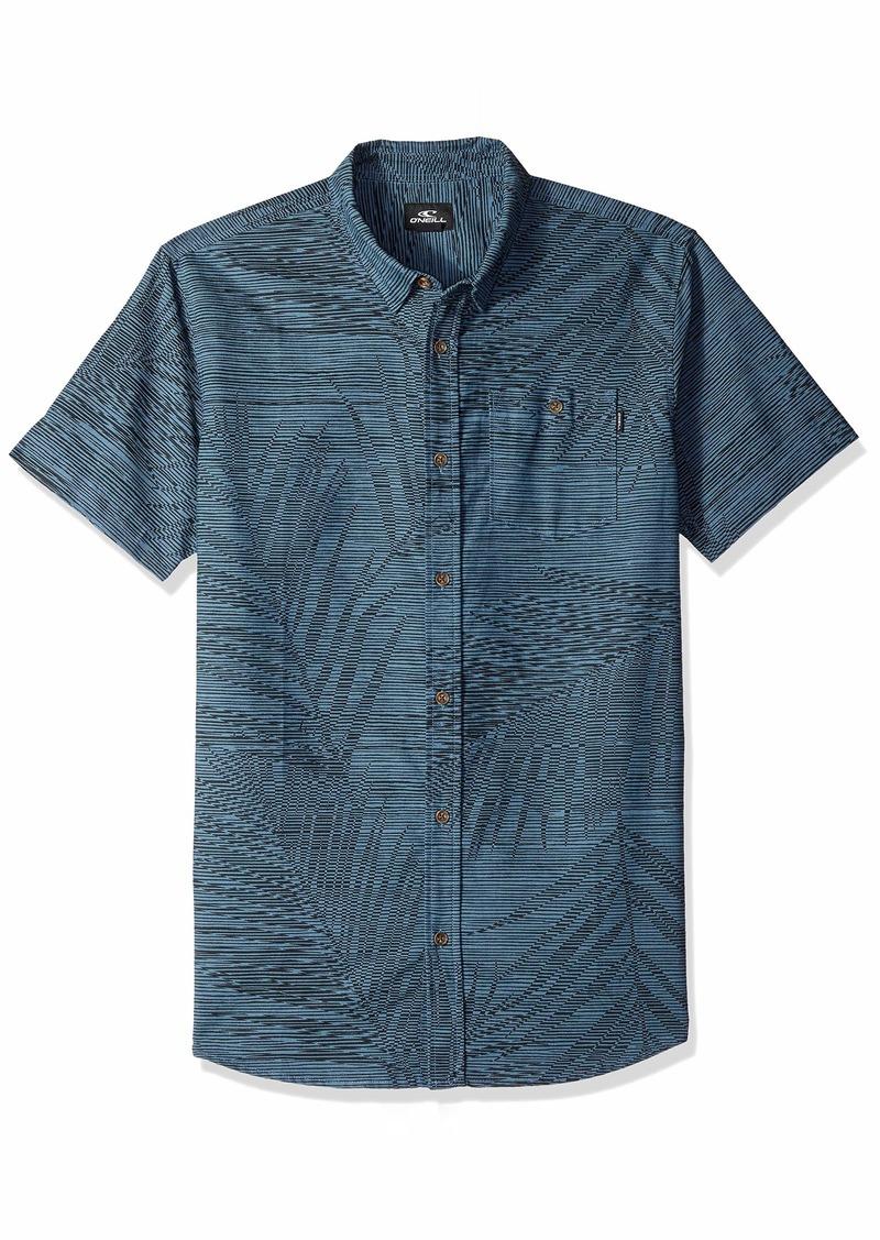 O'NEILL Men's Fronzarelli Short Sleeve Woven Shirt Dark Blue XL