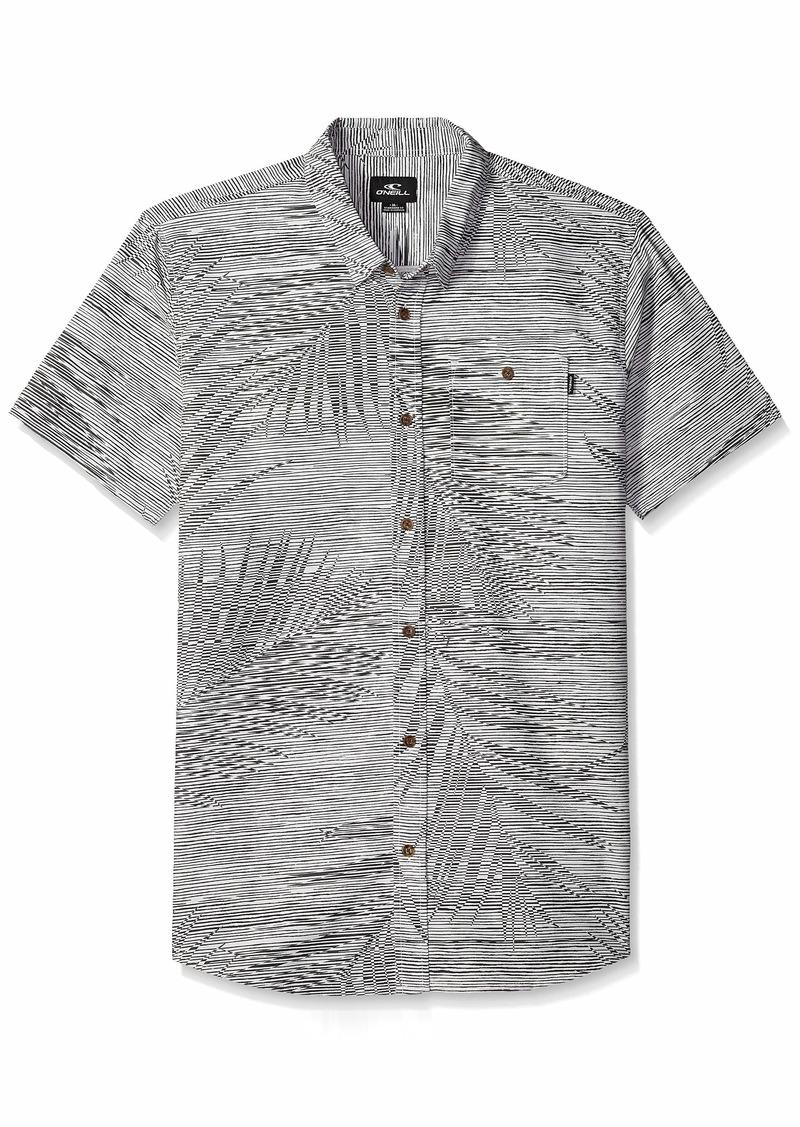 O'NEILL Men's Fronzarelli Short Sleeve Woven Shirt Fog XXL