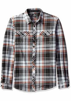 O'Neill Men's Glacier Plaid Long Sleeve Woven Fleece Shirt  S