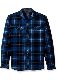 O'Neill Men's Glacier Plaid Long Sleeve Woven Fleece Shirt  XL