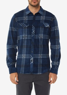 O'Neill Men's Glacier Ridge Standard-Fit Plaid Super Fleece Shirt