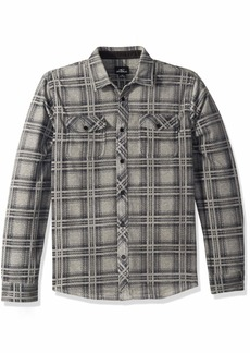 O'Neill Men's Glacier Stretch Button Up Polar Fleece Shirt  M