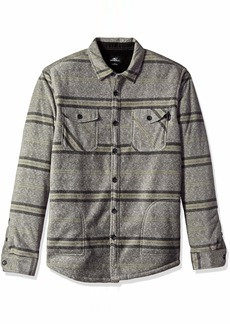 O'Neill Men's Flannel Long Sleeve Woven Casual Button Down Shirt Heather Grey/Glacier S