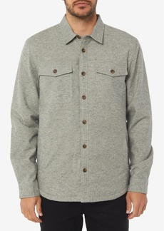 O'Neill Men's Gravel Standard-Fit Taffeta-Lined Flannel Shirt