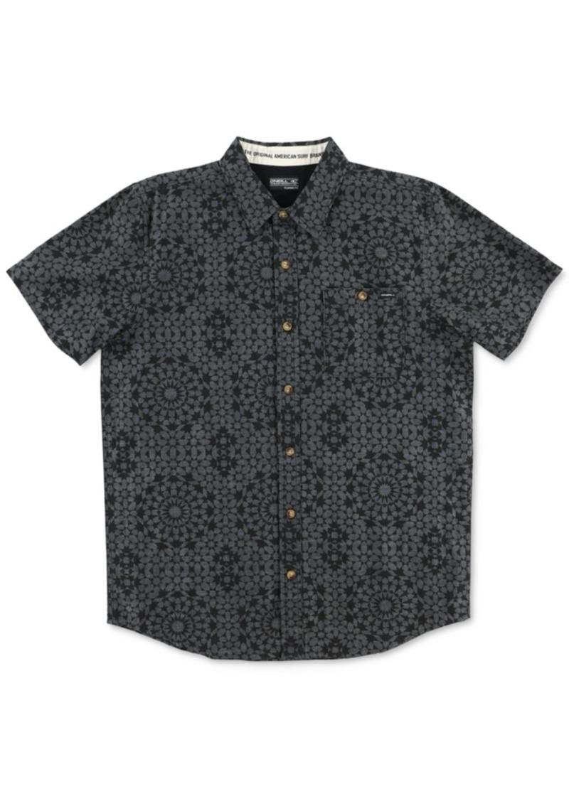 O'Neill Men's Greenbowls Mosaic-Print Short-Sleeve Shirt