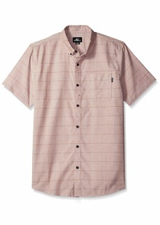 O'Neill Men's Gridlock Short Sleeve Woven Button Down Shirt  L