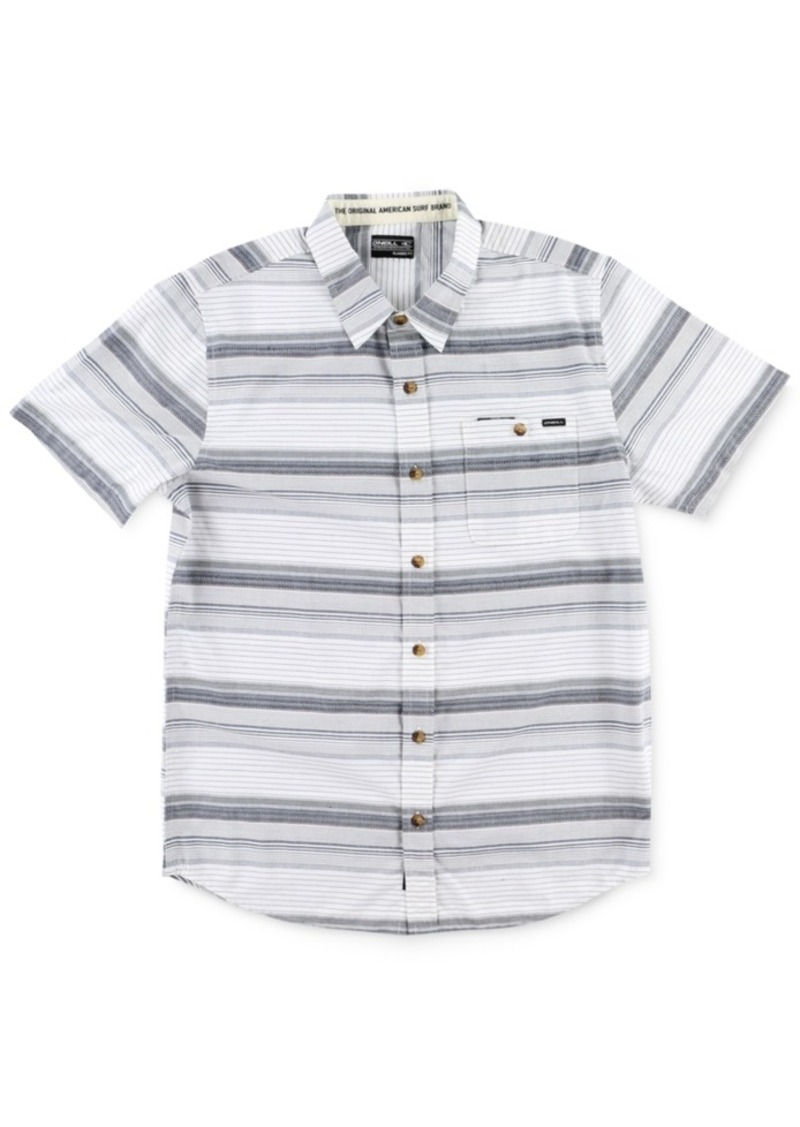 O'Neill Men's Highnoon Striped Short-Sleeve Shirt