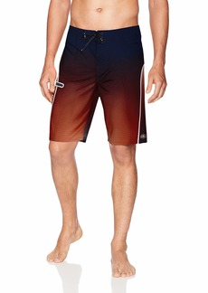 O'Neill Men's Hyperfreak Performance Quick Dry Stretch Boardshort red
