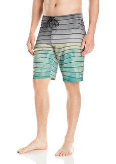 O'Neill Men's Hyperfreak Print Quick Dry Stretch Boardshort swell Aqua