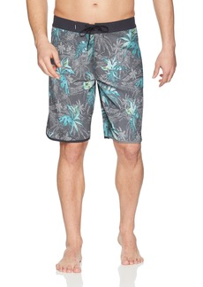 O'Neill Men's Hyperfreak Scallop With Back Pocket Stretch Boardshort ISLANDER ASPHALT