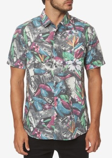 O'Neill Men's Livin Later Classic-Fit Tropical-Print Shirt