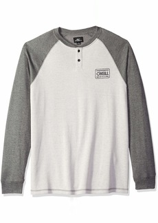 O'Neill Men's Long Sleeve Logo Henley Shirt  L