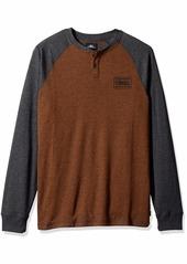 O'NEILL Men's Long Sleeve Logo Henley Shirt  XL