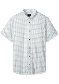 O'Neill Men's Modern Fit Chest Stripe Short Sleeve Woven Shirt  M
