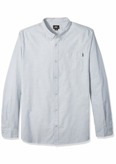 O'Neill Men's Modern Fit Oxford Long Sleeve Button UP Shirt  L