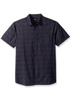O'Neill Men's Modern Fit Short Sleeve Woven Party Shirt  L