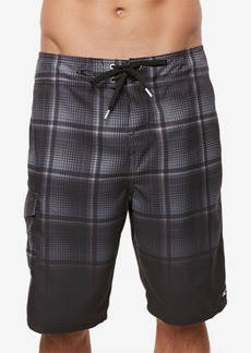 "O'Neill Men's Santa Cruz Ombre Plaid 21"" Board Shorts"
