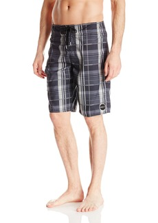 O'Neill Men's Santa Cruz Plaid Board Short Black