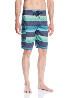 O'Neill Men's Santa Cruz Striped Boardshort Aqua Blue 16