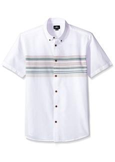 O'Neill Men's Casual Standard Fit Short Sleeve Woven Button Down Shirt  L