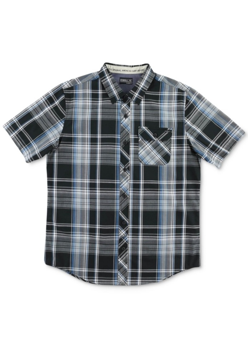 O'Neill Men's Short-Sleeve Emporium Plaid Shirt