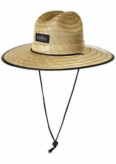 O'Neill Men's Sonoma Print Straw Lifeguard Hat Asphalt ONE
