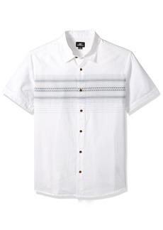 O'Neill Men's Standard Fit Chest Stripe Short Sleeve Woven Shirt  M