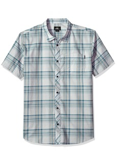 O'Neill Men's Standard Fit Plaid Short Sleeve Stretch Woven Shirt  XL