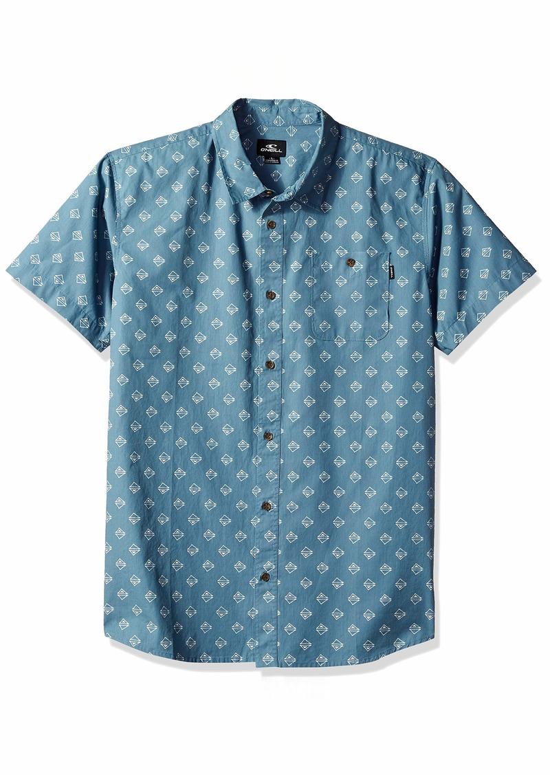 O'NEILL Men's Standard Fit Short Sleeve Woven Button Down Mini Print Shirt  XL
