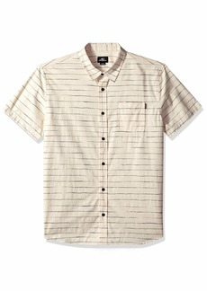 O'Neill Men's Standard Fit Short Sleeve Woven Button Down Stripe Shirt  XL