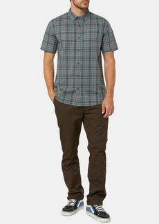 O'Neill Men's Timebomb Standard-Fit Stretch Plaid Shirt