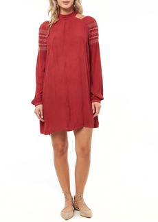 O'Neill Mirage Embroidered Cold Shoulder Dress