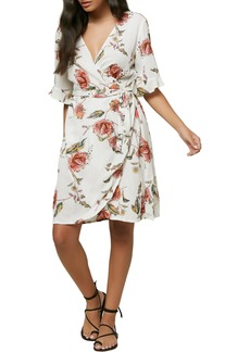 O'Neill Molly Floral Print Wrap Dress