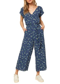 O'Neill Nickie Floral Print Woven Crop Jumpsuit