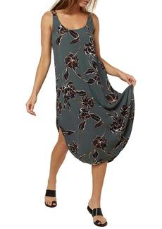O'Neill Nikko Floral Print Midi Tank Dress