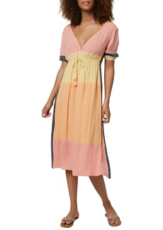 O'Neill Phaedra Tie Waist Midi Dress