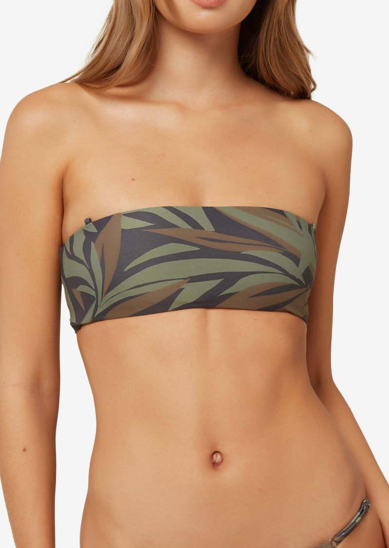 O'Neill Rania Frond Print Bandeau Bikini Top