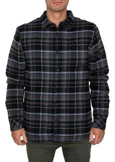 O'Neill Redmond Fleece Lined Plaid Button-Up Flannel Shirt