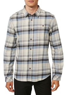 O'Neill Redmond Regular Fit Plaid Flannel Button-Up Shirt