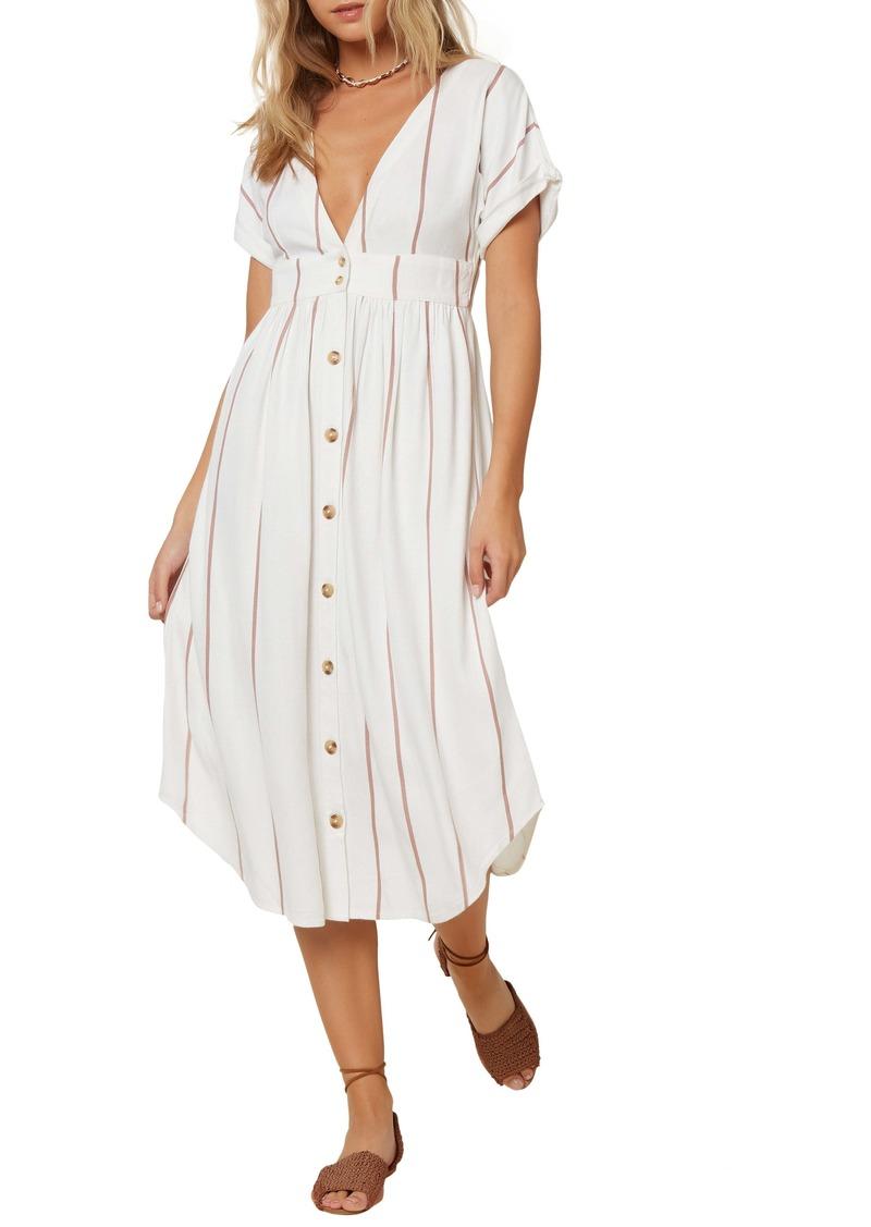 O'Neill Reid Stripe Midi Dress
