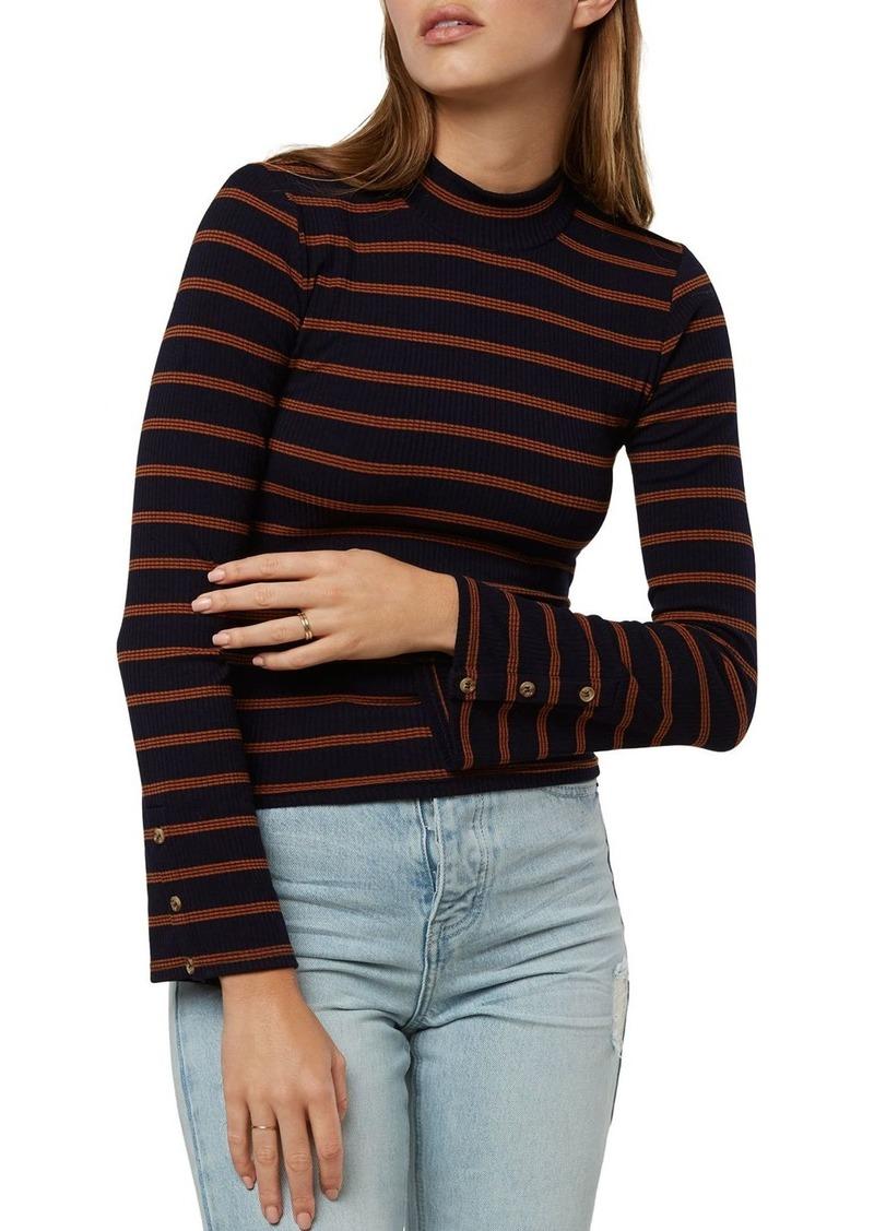 O'Neill Roberts Striped Rib-Knit Top