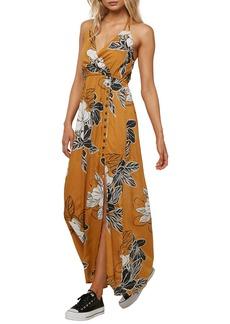 O'Neill Rubia Floral Print Halter Maxi Dress
