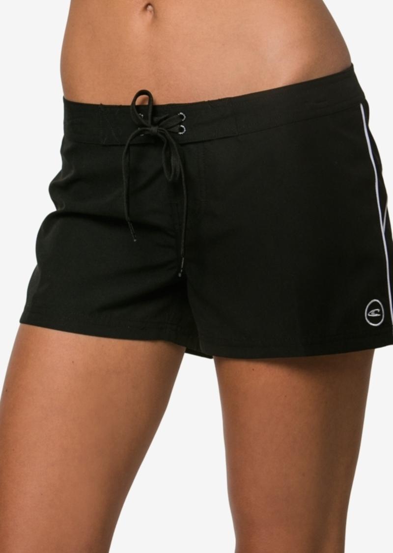 "O'Neill Juniors' Salt Water Solid 3"" Board Shorts Women's Swimsuit"