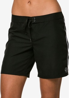 "O'Neill Juniors' Salt Water Solids 7"" Board Shorts Women's Swimsuit"