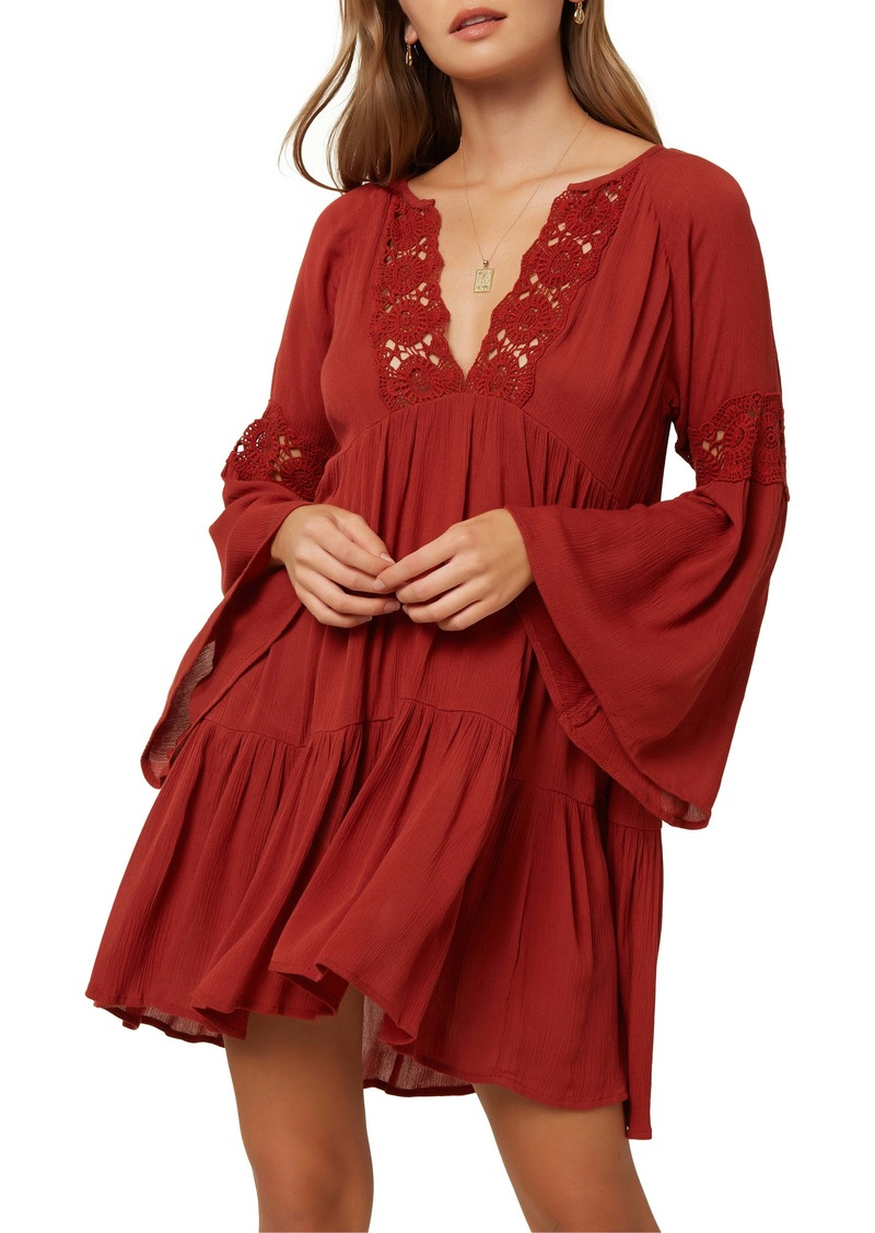 O'Neill Saltwater Solids Bell Sleeve Cover-Up Tunic Dress