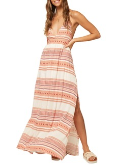 O'Neill Savanah Halter Neck Maxi Dress