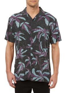 O'Neill Spliit Palm Leaves Short Sleeve Button-Up Camp Shirt